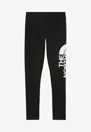 GIRLS LEGGING BIG LOGO - Punčochy - black/white