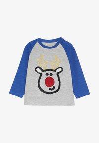 mothercare - BABY REINDEER RAGALN TEE - Long sleeved top - blue - 2