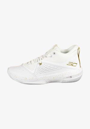 Basketball shoes - white / white / metallic gold