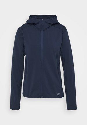KYANITE HOODY WOMEN'S - Fleece jacket - cobalt moon