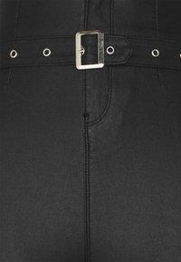 Missguided Tall - CORSET BELT COATED VICE - Pantalones - black - 2