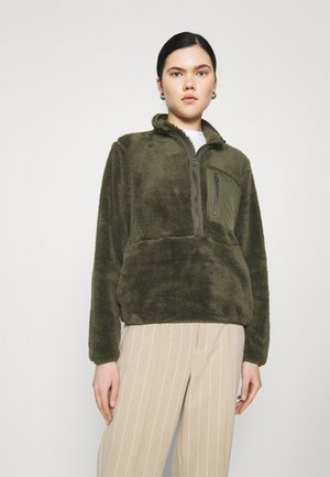 ONLDALINA ZIP - Fleece jumper - forest night