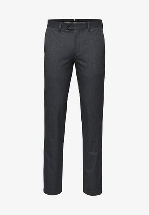 SLHSLIM-CARLO FLEX PANTS - Trousers - grey melange