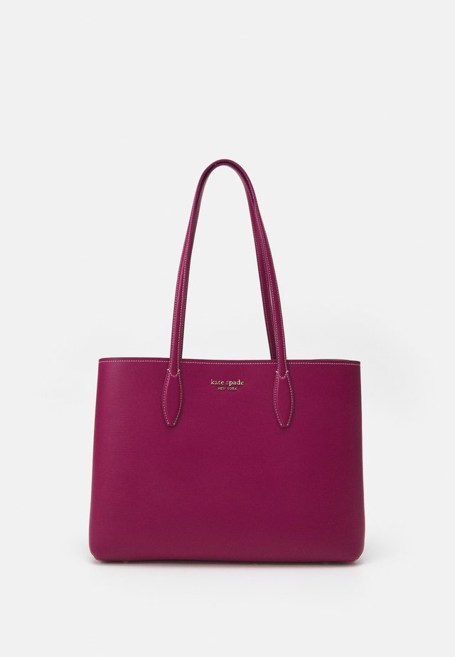 LARGE TOTE SET - Shoppingväska - deep raspberry