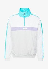 Fila - JONA WOVEN HALF ZIP JACKET - Treningsjakke - Bright white/blue curacao/violet tulip - 5