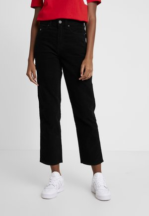 HIGH RISE CROP 1990 - Trousers - black