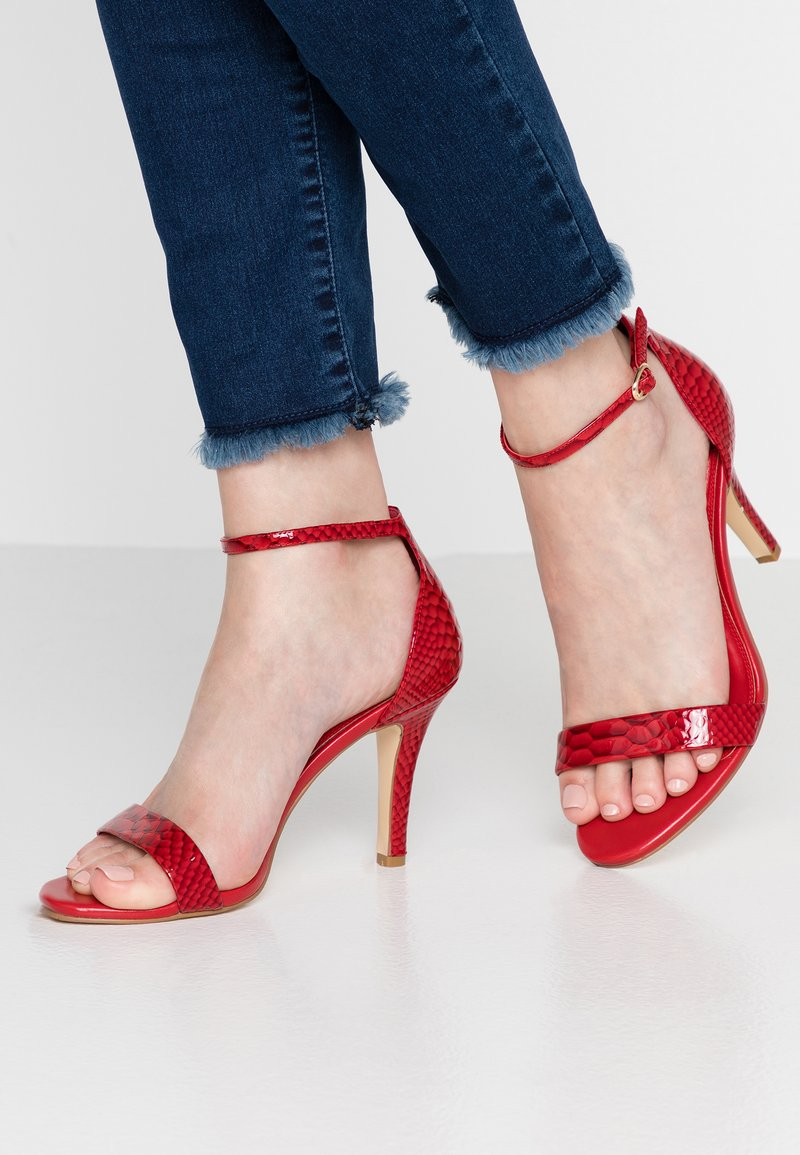 Dune London WIDE FIT - WIDE FIT MYDRO - High heeled sandals - red