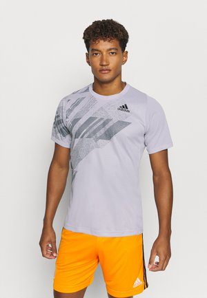 FLIF  - T-shirt med print - grey/pink