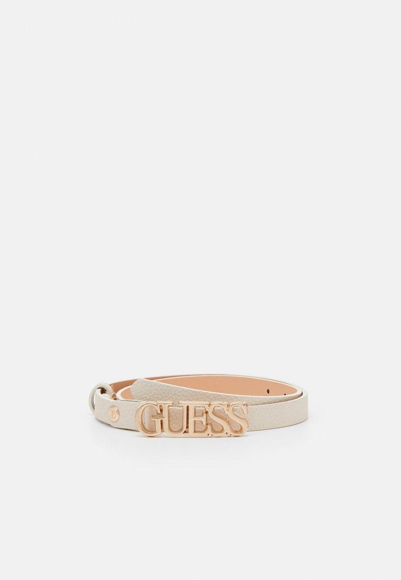Guess - UPTOWN CHIC ADJUST PANT BELT - Belt - stone