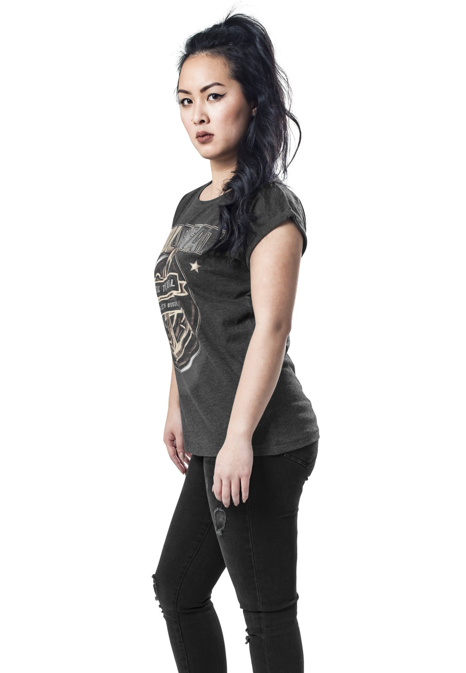 Merchcode Print T-shirt - charcoal swifX