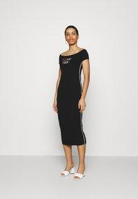 Calvin Klein - BARDOT PIPING DRESS - Maxi-jurk - black - 1