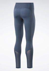 Reebok - REEBOK LUX PERFORM TIGHT - Tights - blue - 8