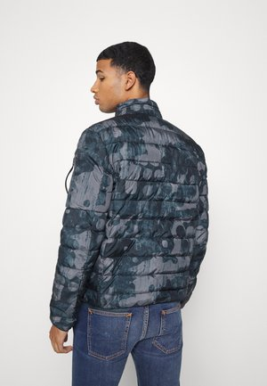 STAND UP COLLAR JACKET - Winterjas - blue