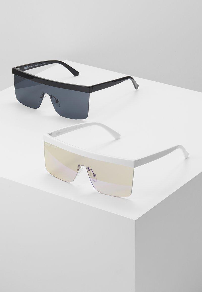 Urban Classics - SUNGLASSES RHODOS 2 PACK - Sunglasses - black and white/multicoloured