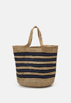 BEACH BAG - Shoppingveske - nature blue