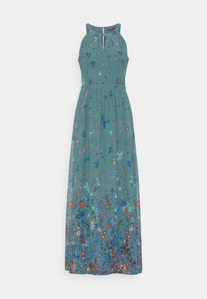 PRINT FLOWER - Maxi dress - dark turquoise