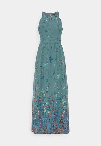 PRINT FLOWER - Vestito lungo - dark turquoise