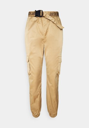 CARGO PANTS - Cargo trousers - camel