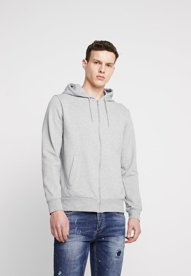 THE ORGANIC HOODIE - Bluza rozpinana - light grey