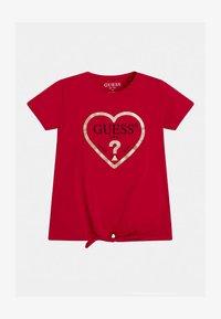 Guess - JUNIOR  - Print T-shirt - rose - 0