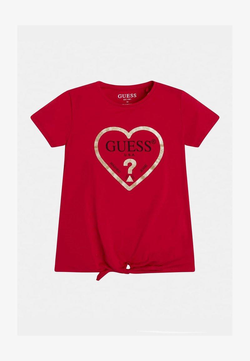 Guess - JUNIOR  - Print T-shirt - rose