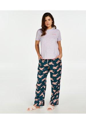 Pyjama bottoms - blue, light pink