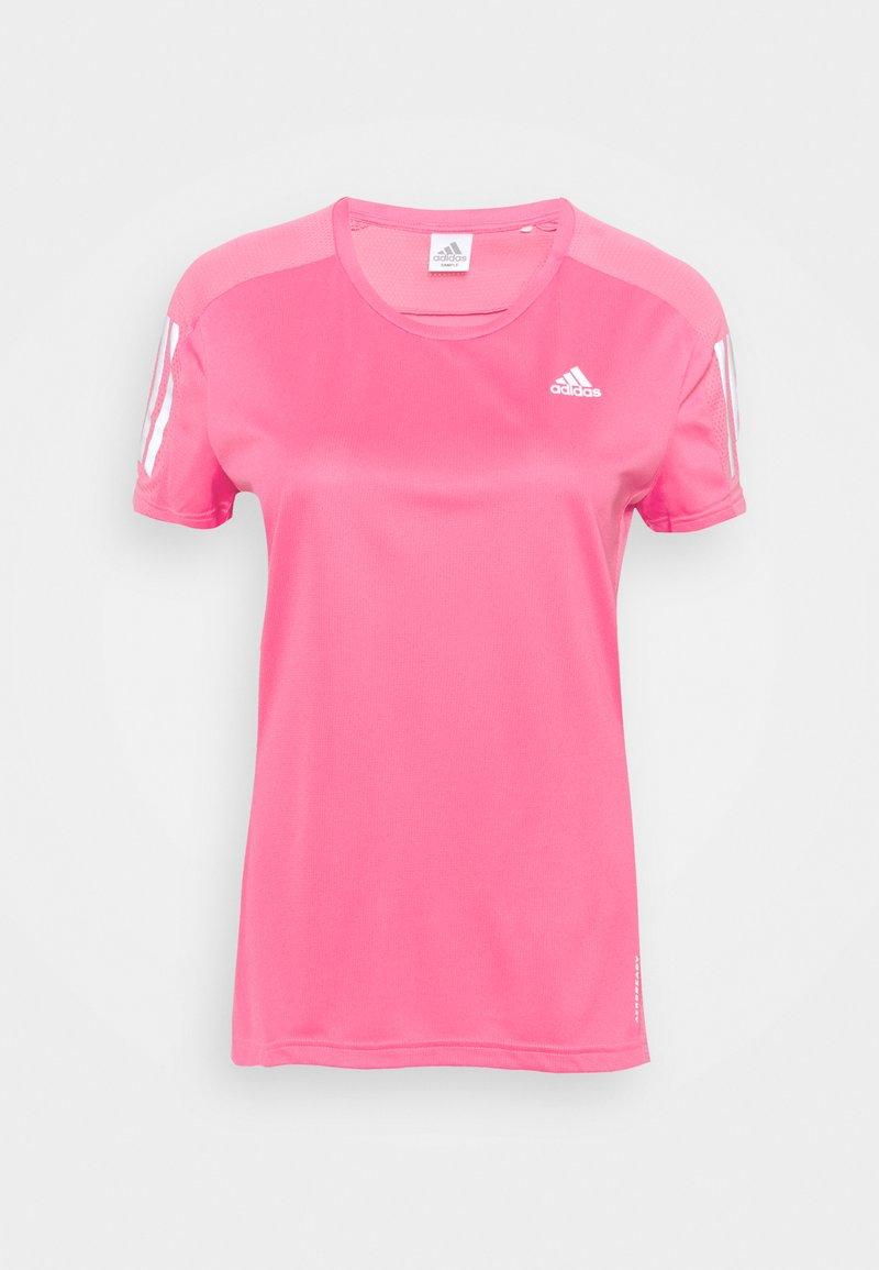 adidas Performance - OWN THE RUN TEE - T-shirts med print - semi solar pink