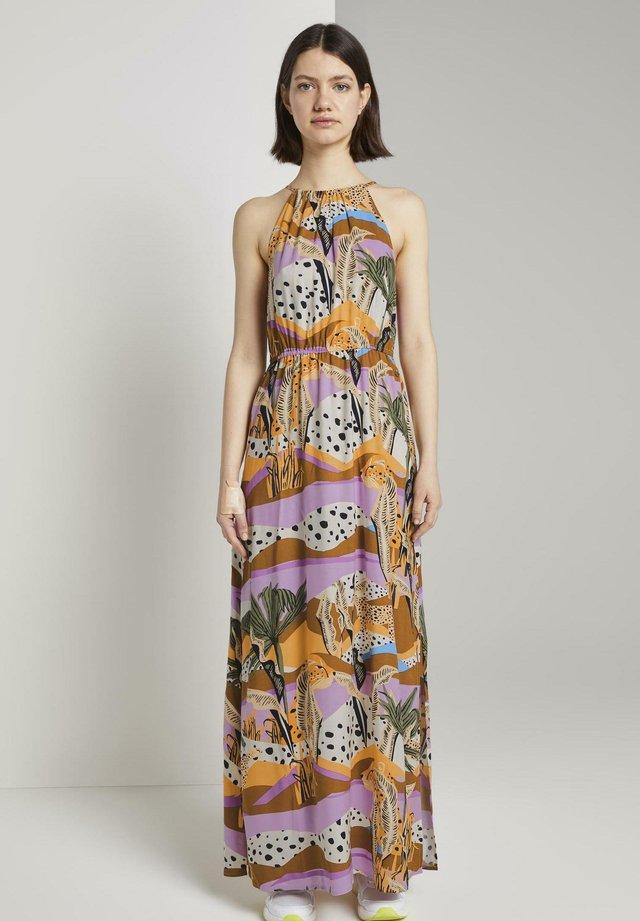 Maxi dress - tropical print