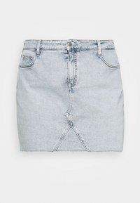 HIGH RISE MINI SKIRT - Mini skirt - denim light