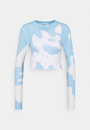 SENA TIE DYE LONG SLEEVE - Maglietta a manica lunga - blue with white