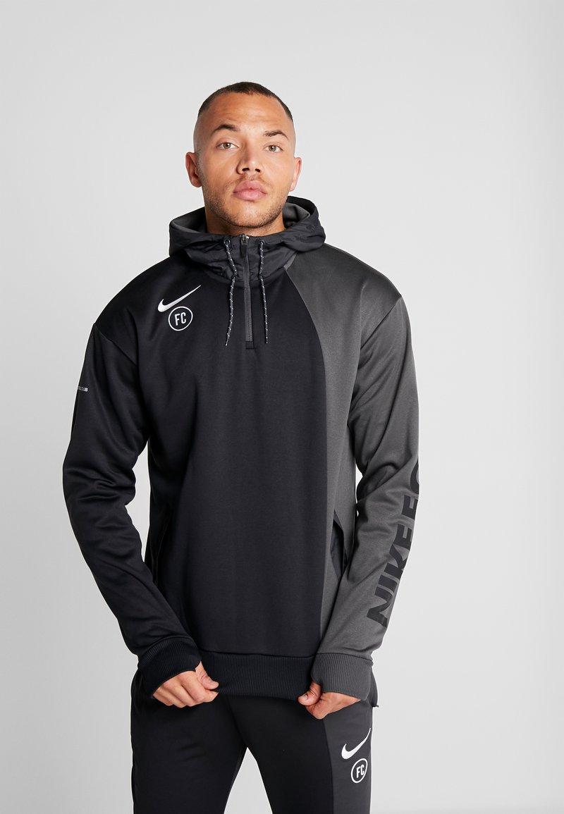 Nike Performance - FC HOODIE - Hoodie - anthracite/black/white