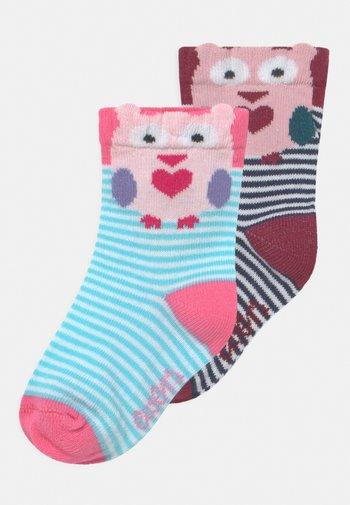 EULE 2 PACK UNISEX - Socks - navy/rose