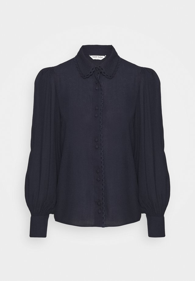 FLORINA - Button-down blouse - bleu marine
