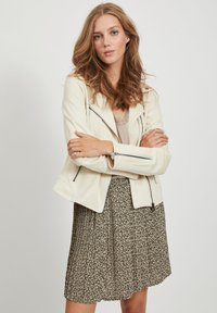 Vila - Faux leather jacket - birch - 0