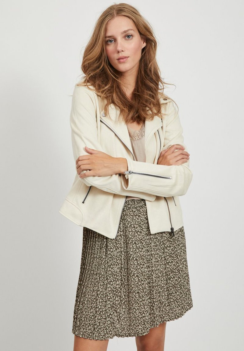 Vila - Faux leather jacket - birch