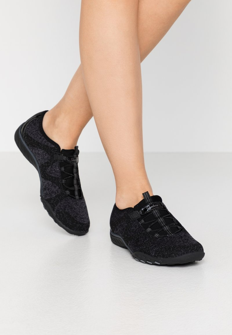 Skechers - BREATHE EASY - Trainers - black/charcoal