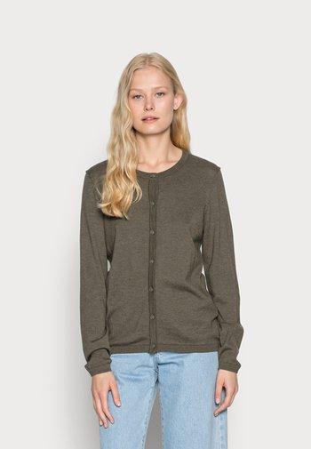 CORE ROUND NECK CARDIGAN - Cardigan - dark khaki