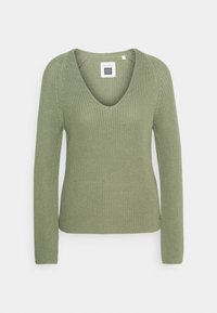 Marc O'Polo - LONG SLEEVE - Jumper - dried sage - 5
