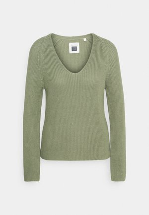 LONG SLEEVE - Strikkegenser - dried sage
