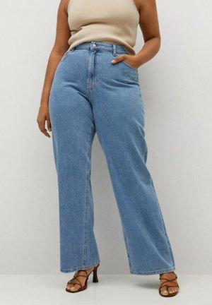 ERIKA - Flared jeans - mittelblau
