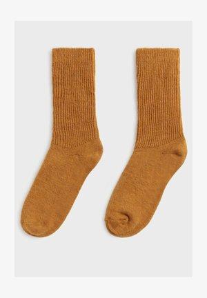 Socks - ochre