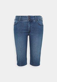 MY TRUE ME TOM TAILOR - CAPRI - Denim shorts - clean dark stone blue denim - 0