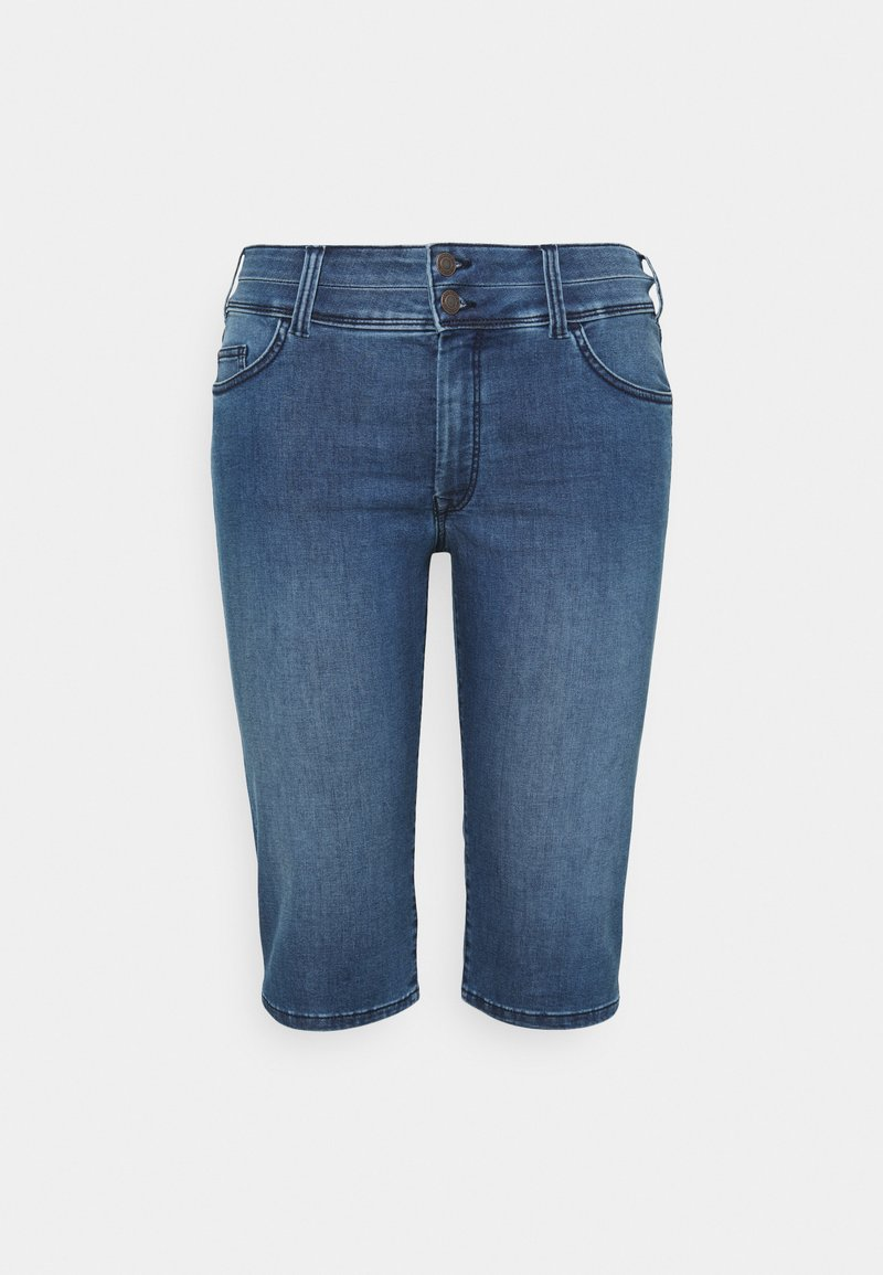 MY TRUE ME TOM TAILOR - CAPRI - Denim shorts - clean dark stone blue denim