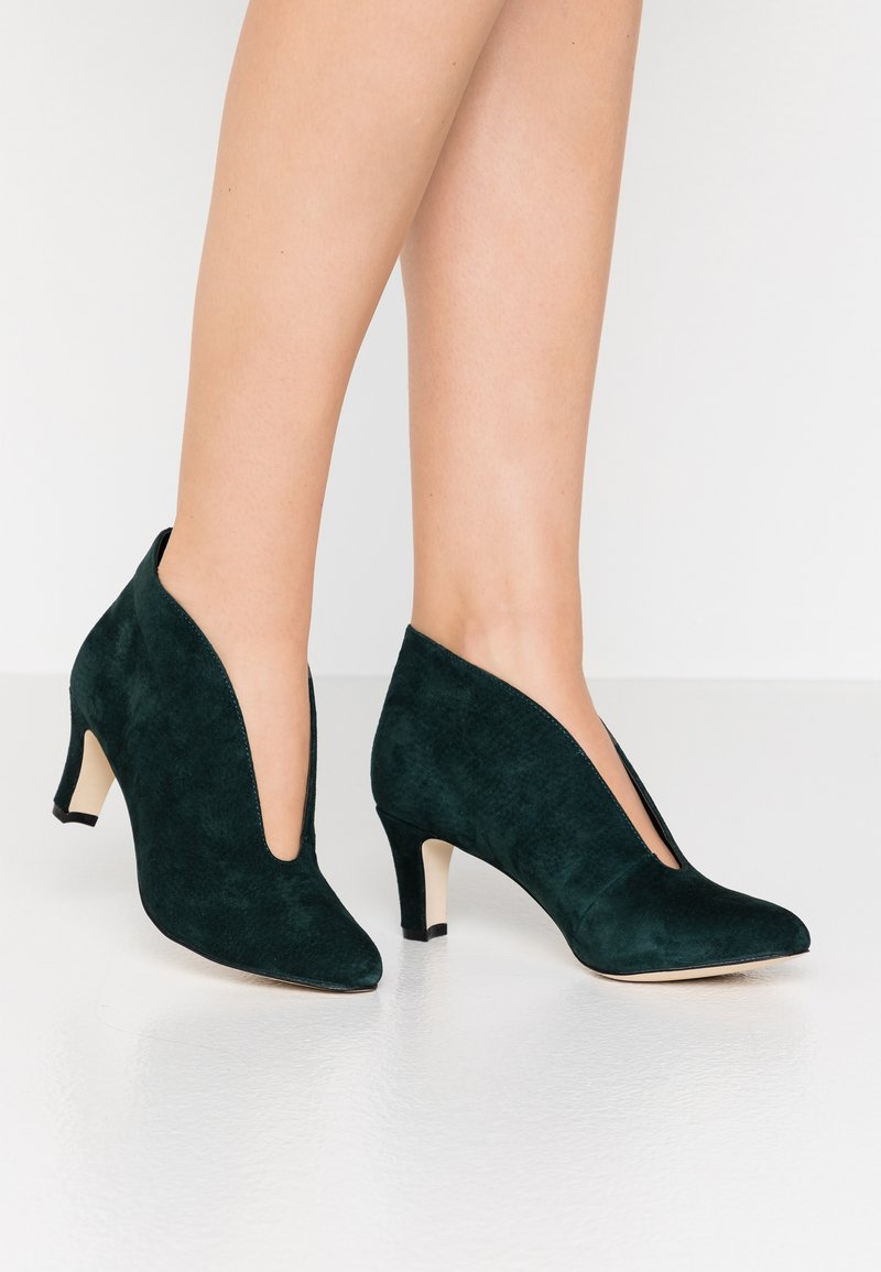 Anna Field - LEATHER - Ankelstøvler - dark green