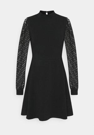 ONLMILLE LIFE MIX DRESS - Jersey dress - black