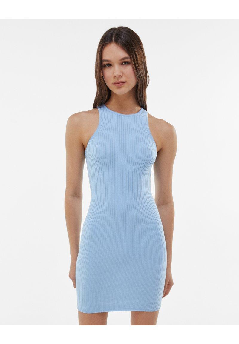Bershka - Jumper dress - light blue