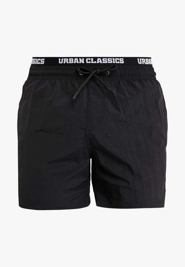 TWO IN ONE SWIM - Swimming shorts - black/white