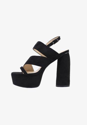 HALO - High heeled sandals - black