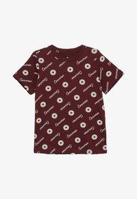 Converse - MICRO SIGNATURE CHUCK PRINTED TEE - Print T-shirt - dark burgundy - 2