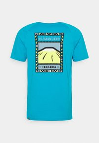 The North Face - TEE - Print T-shirt - turquoise/white - 7